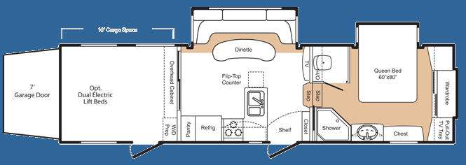 Floorplan - 2008 Keystone RV Fuzion 302