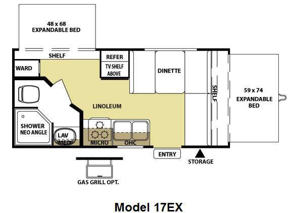 Floorplan - 2010 Forest River RV Wildwood X-Lite 17EX