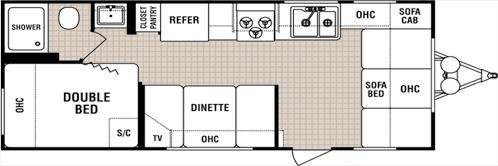 Floorplan - 2005 Dutchmen RV Lite 18 B