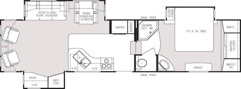 Floorplan - 2006 Keystone RV Everest 343L