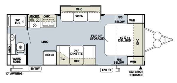 Floorplan - 2010 Forest River RV Rockwood Mini Lite 2502S