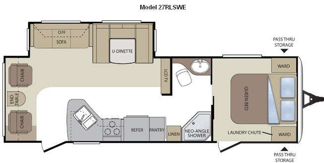 Floorplan - 2011 Keystone RV Cougar 27RLSWE