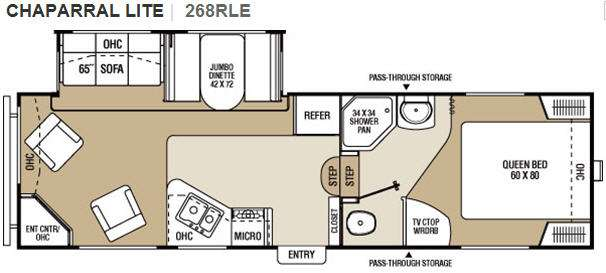 Floorplan - 2011 Coachmen RV Chaparral Lite 268RLE