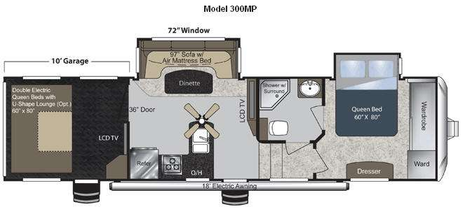 Floorplan - 2011 Keystone RV Raptor 300MP