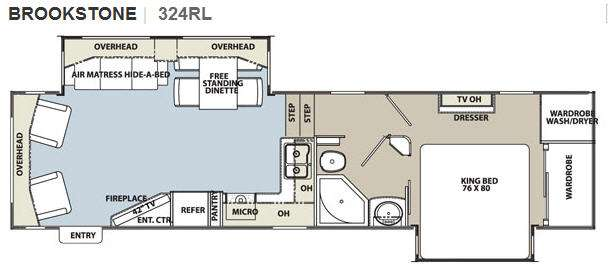 Floorplan - 2012 Coachmen RV Brookstone 324RL