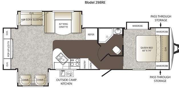 Floorplan - 2012 Keystone RV Outback 298RE