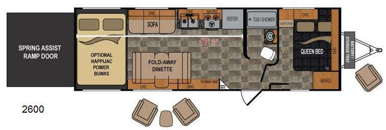 Floorplan - 2012 Dutchmen RV Rubicon 2600