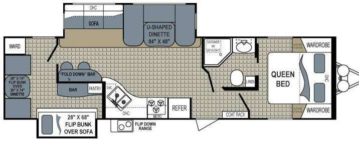 Floorplan - 2012 Dutchmen RV Aerolite 318BHSS