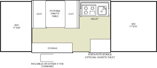 Floorplan - 2006 Fleetwood RV Americana SantaFe