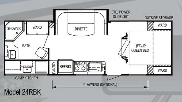 Floorplan - 2013 Skyline Koala 24RBK