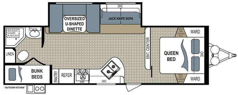 Floorplan - 2013 Dutchmen RV Kodiak 284BHSL