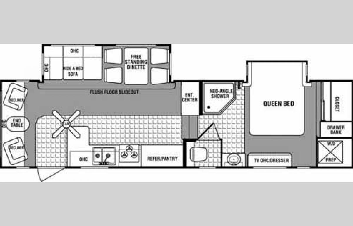 Floorplan - 2006 Dutchmen RV Grand Junction 29DRL