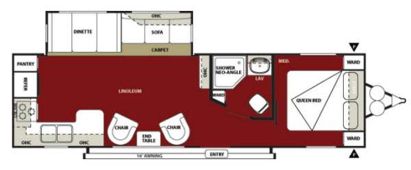 Floorplan - 2013 Forest River RV Wildwood 27RKSS