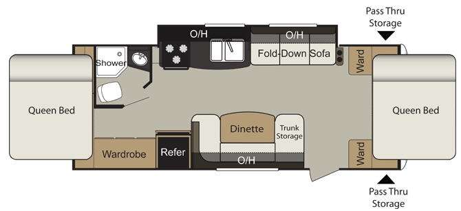 Floorplan - 2013 Keystone RV Passport Express SL 235EXP