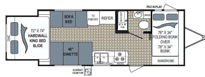 Floorplan - 2013 Dutchmen RV Kodiak 220BHKS