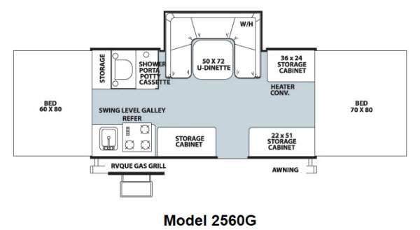 Floorplan - 2013 Forest River RV Rockwood Freedom Series 2560G