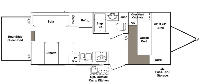 Floorplan - 2007 Keystone RV Outback 23RS