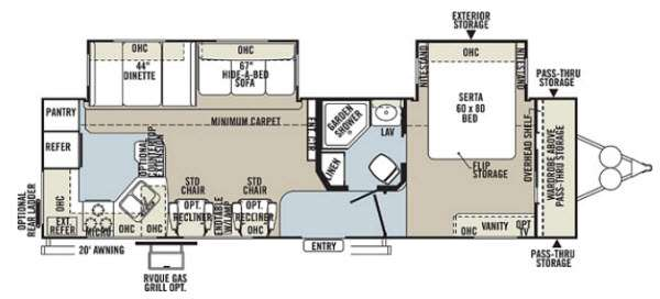 Floorplan - 2013 Forest River RV Rockwood Signature Ultra Lite 8310SS