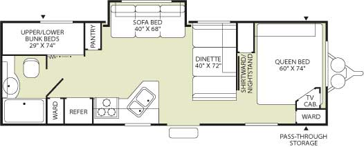Floorplan - 2006 Fleetwood RV Wilderness 260BHS