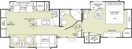 Floorplan - 2006 Fleetwood RV Wilderness Advantage AX6 365BSQS