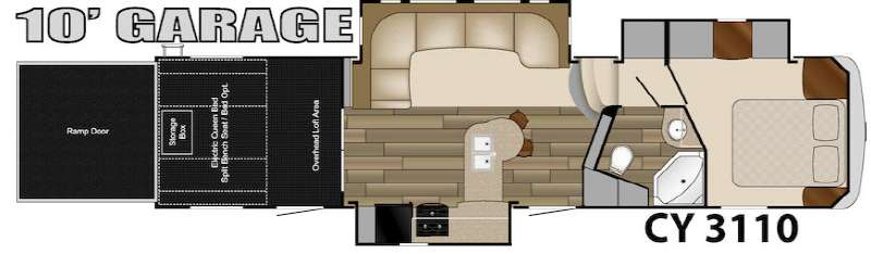 Floorplan - 2014 Heartland Cyclone 3110