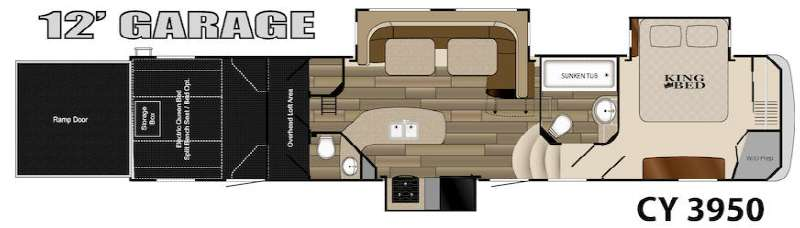 Floorplan - 2014 Heartland Cyclone 3950