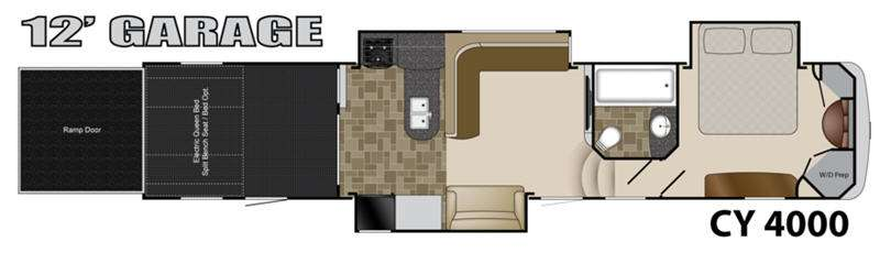 Floorplan - 2014 Heartland Cyclone 4000 Elite