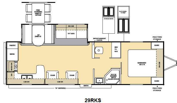 Floorplan - 2014 Coachmen RV Catalina Deluxe Edition 29RKS