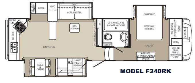 Open Road Fifth Wheel Floor Plans: Used 2014 Palomino Columbus F340RK Fifth Wheel At Big