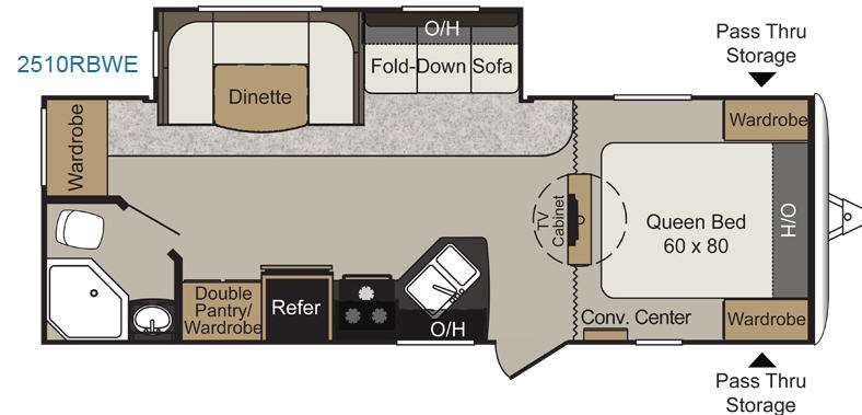Floorplan - 2014 Keystone RV Passport 2510RBWE Grand Touring