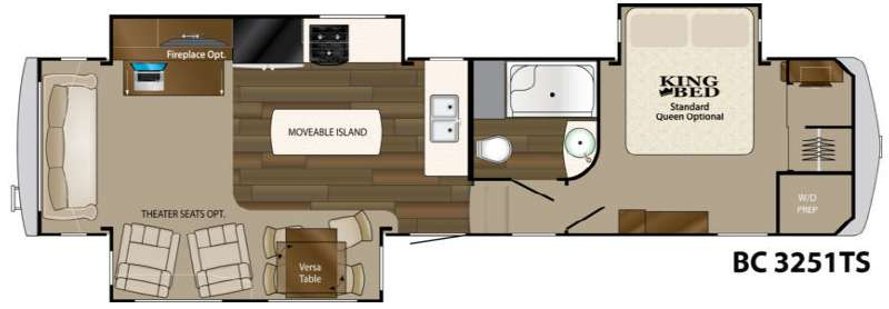 Floorplan - 2014 Heartland Big Country 3251 TS