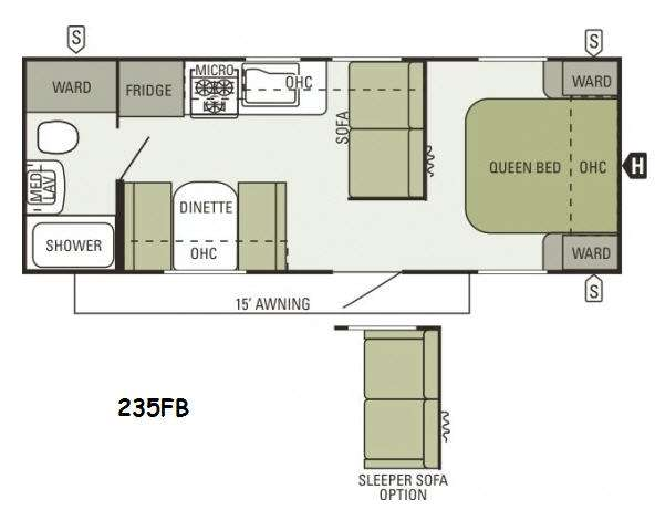 Floorplan - 2014 Starcraft  Autumn Ridge 235FB