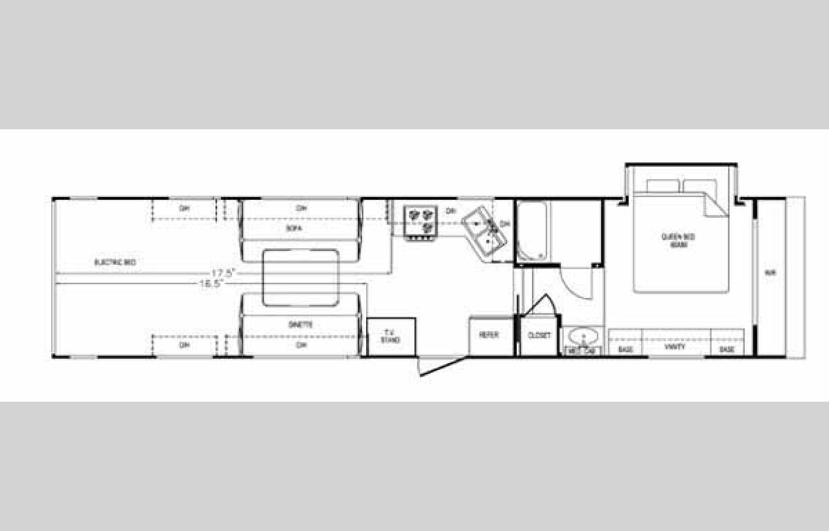 Floorplan - 2006 Thor California Vortex 385WTB