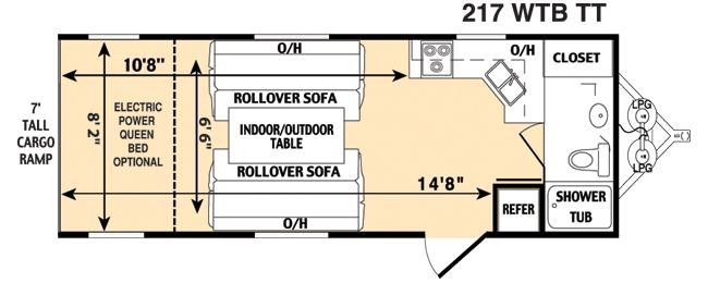 Floorplan - 2006 Thor California Vortex 217WTB