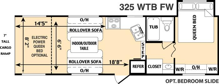 Floorplan - 2006 Thor California Vortex 325WTB