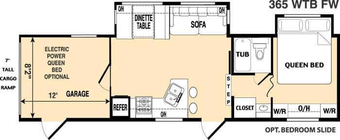 Floorplan - 2006 Thor California Vortex 365WTB SS