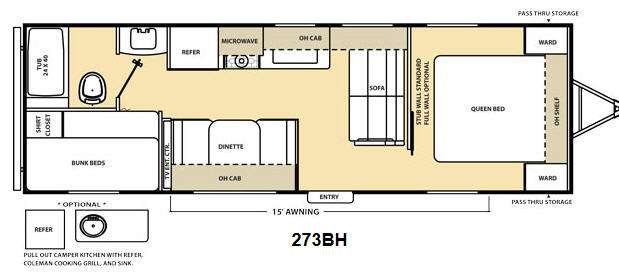 Floorplan - 2014 Coachmen RV Catalina 273BH