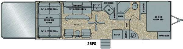 Floorplan - 2014 EverGreen RV Amped 26FS