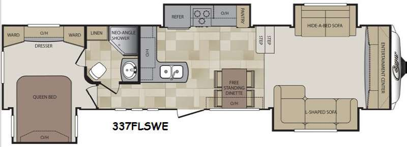 Floorplan - 2014 Keystone RV Cougar 337FLSWE