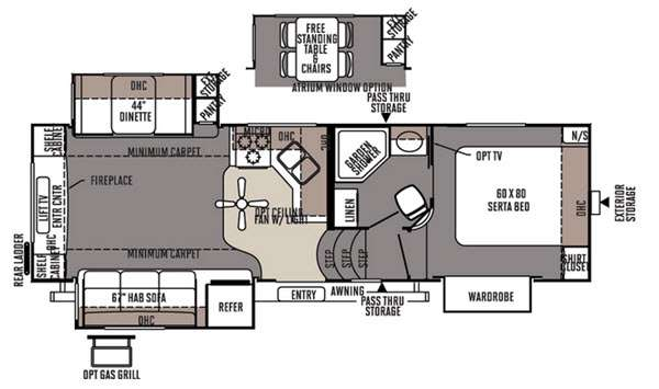 Floorplan - 2015 Forest River RV Rockwood Signature Ultra Lite 8265WS