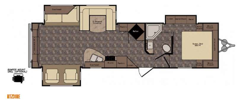 Floorplan - 2015 CrossRoads RV ReZerve RTZ31RE