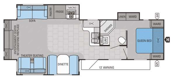Floorplan - 2015 Jayco Jay Flight 33RLDS