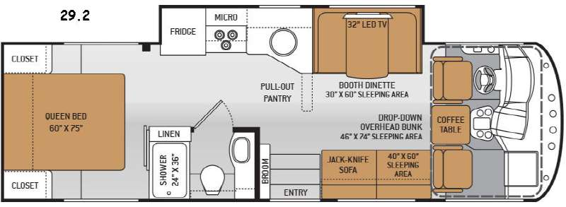 Floorplan - 2015 Thor Motor Coach ACE 29.2