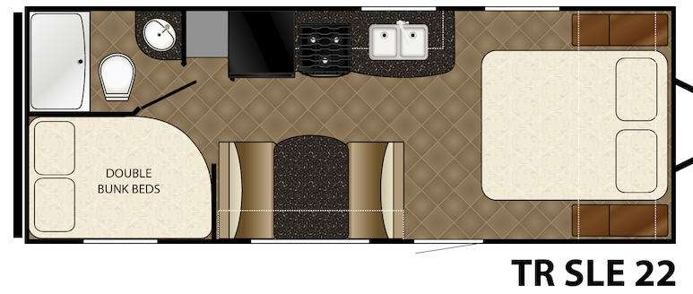 Floorplan - 2015 Heartland Trail Runner 22 SLE
