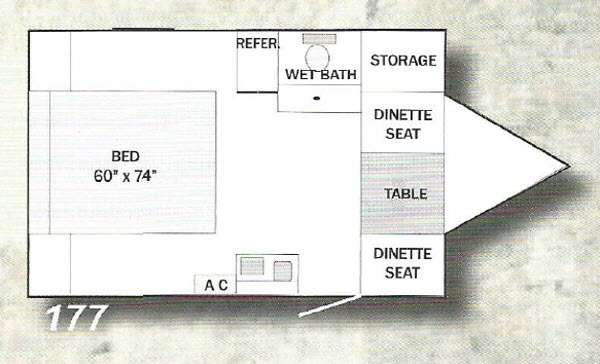 Floorplan - 2015 Riverside RV White Water 177 Retro