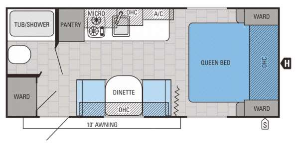 Floorplan - 2015 Jayco Jay Flight SLX 195RB