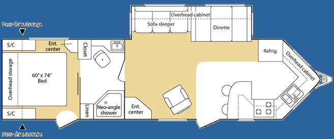 Floorplan - 2007 Keystone RV VR1 305FKS