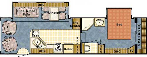 Floorplan - 2004 Gulf Stream RV Yellowstone 29 FBW