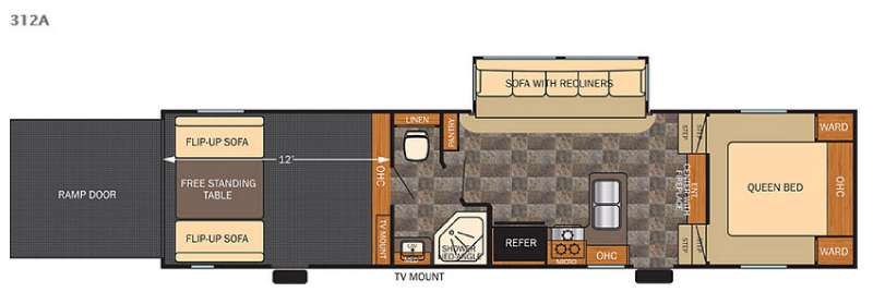 Floorplan - 2015 Forest River RV Vengeance Super Sport 312A