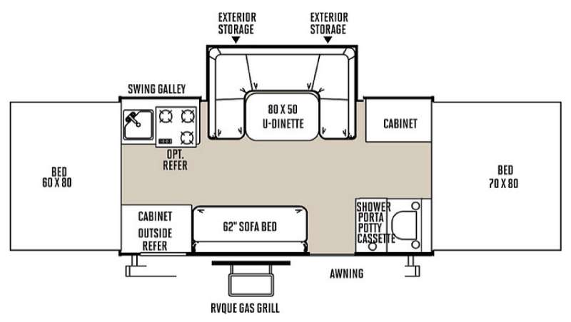 Floorplan - 2015 Forest River RV Rockwood Premier 2716G